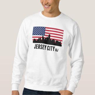 Jersey City NJ American Flag Sweatshirt