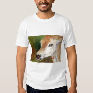Jersey Cow aceo Ladies Tshirt