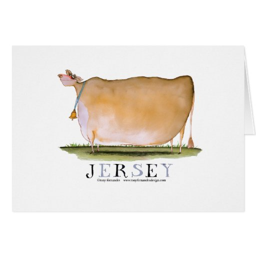 jersey cow, tony fernandes greeting card