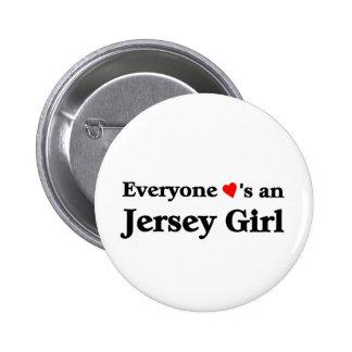 Jersey Girl 2 Inch Round Button