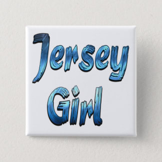 Jersey Girl 2 Inch Square Button