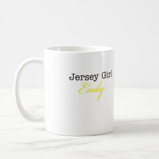 JERSEY GIRL ENDY COFFEE MUG - WHITE