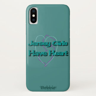 Jersey Girls Have Heart Personalized in Green iPhone X Case