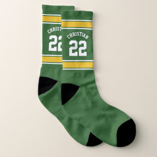 Jersey Green Yellow Personalized Football Themed 1