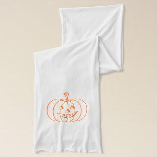 Jersey Knit Scarf Halloween Pumpkin