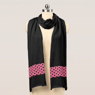 Jersey Knit Scarf-Pink Plaid Scarf