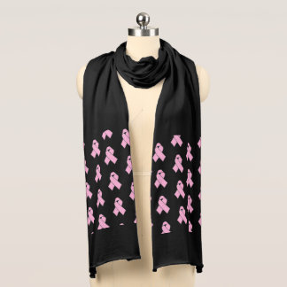 Jersey Knit Scarf-Pink Ribbon Scarf