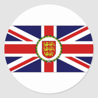 Jersey Lieutenant Governor Flag Round Sticker