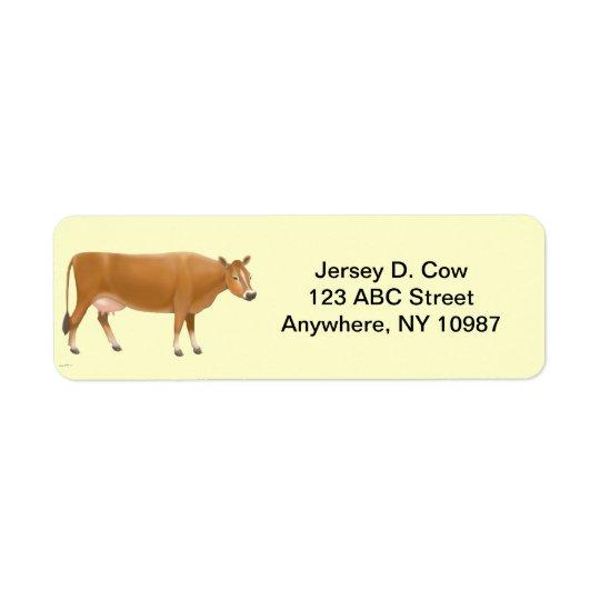 Jersey Milk Cow Label