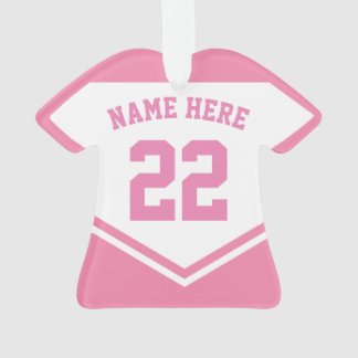 Jersey Name Number Ornament Template, Football