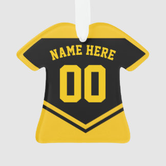 Jersey Name Number Ornament Template Soccer Hockey