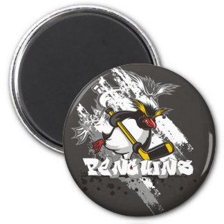 Jersey Penguins Graffiti Round Magnet