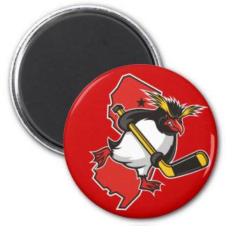 Jersey Penguins Round Magnet