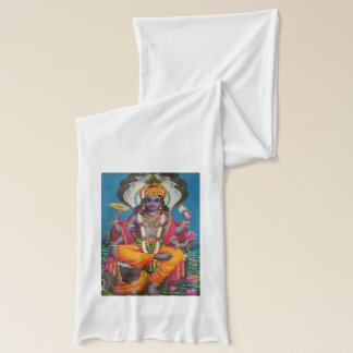 Jersey scarf with the image and legend of Vishnu