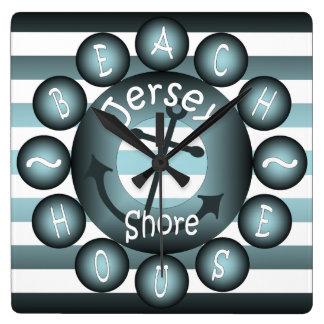 """""""Jersey Shore"""" ~ """"Beach House"""" ~ """"Summer House"""" ~ Clock"""