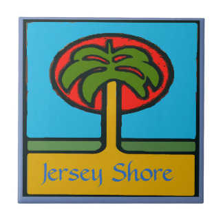 Jersey Shore, Beach,  Tile, add or edit  text Tile