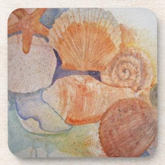 Jersey Shore Seashells Coaster