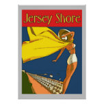 Jersey Shore Vintage Style Posters