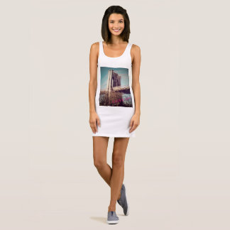 Jersey Tank dress I love NY Brooklyn Bridge