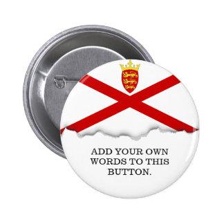 Jersey U.K. flag 2 Inch Round Button