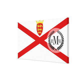 Jersey U.K. flag Canvas Print