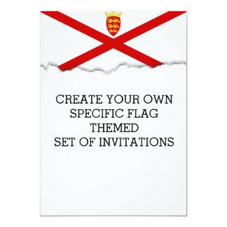 Jersey U.K. flag Card