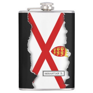 Jersey U.K. flag Hip Flask