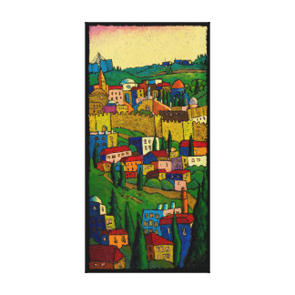 Jerusalem at Dawn by Jonathan Kis-Lev Canvas Print