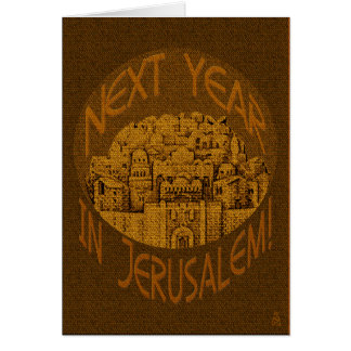 Jerusalem Brown - Personalized Card