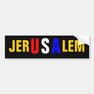 JERUSALEM BUMPER STICKER