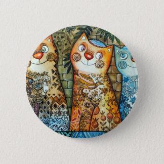 Jerusalem cats 2 inch round button
