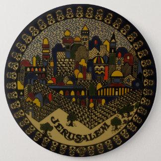 Jerusalem Ceramic 6 Inch Round Button