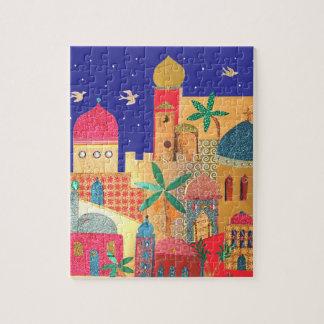 Jerusalem City Colorful Art Puzzles