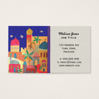 Jerusalem City Colorful Middle Eastern art Business Card