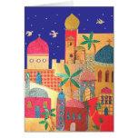 Jerusalem City Colourful Art Cards