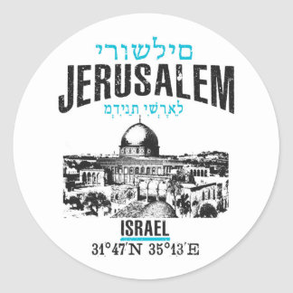 Jerusalem Classic Round Sticker