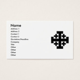 Jerusalem Cross Black Business Card
