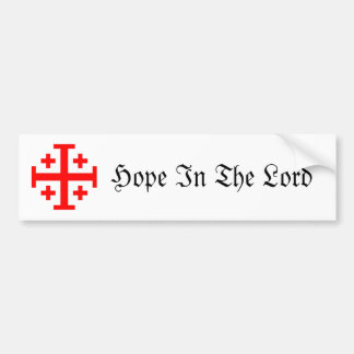 Jerusalem Cross Bumper Sticker