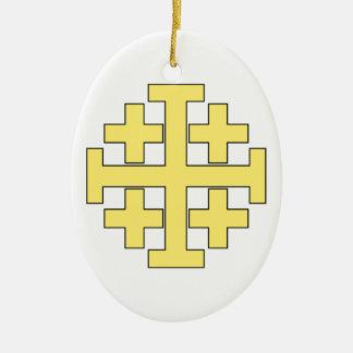Jerusalem Cross Ceramic Ornament