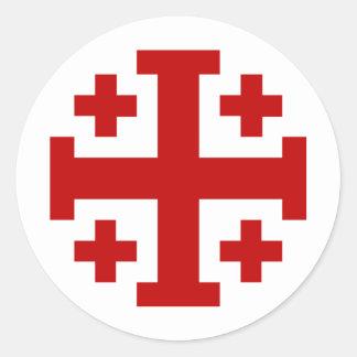 Jerusalem Cross Classic Round Sticker