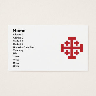 Jerusalem Cross in simple red Business Card