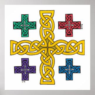 Jerusalem Cross print