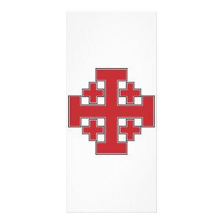 Jerusalem Cross Red Full Colour Rack Card
