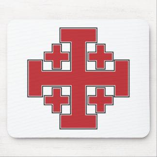 Jerusalem Cross Red Mouse Pad