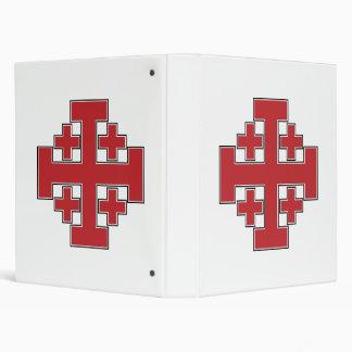Jerusalem Cross Red Vinyl Binder