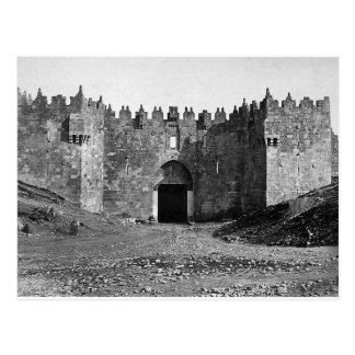 Jerusalem Damascus Gate Vintage 1870 Photo Postcard
