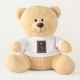 Jerusalem Day Lion With Flag Teddy Bear