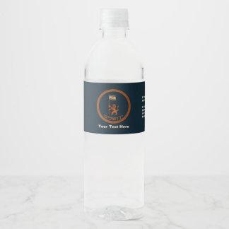Jerusalem Day Lion With Flag Water Bottle Label