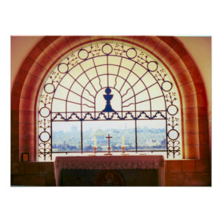 "Jerusalem ""Dominus Flevit"" chapel, Mount of Olives Poster"