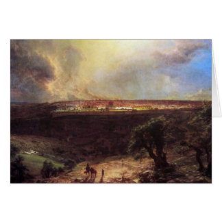 Jerusalem from the Mount of Olives by Church Card